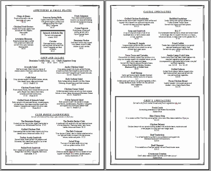 Free Editable Restaurant Menu Templates Best Of Free Printable Template Restaurant Menus