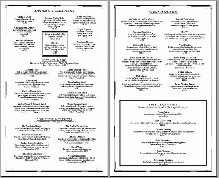 Free Editable Restaurant Menu Templates Best Of Free Printable Template Restaurant Menus