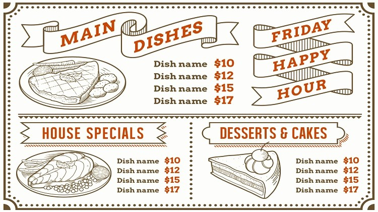 free premium restaurant menu templates