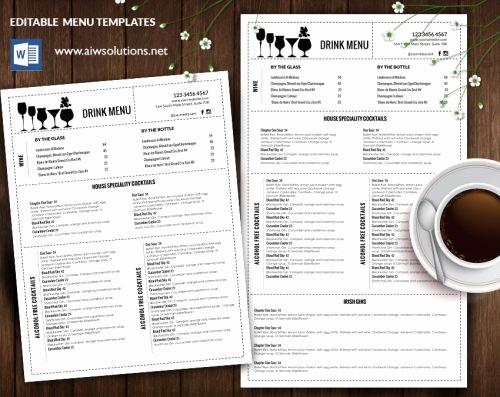 Free Editable Restaurant Menu Templates Fresh Design & Templates Menu Templates Wedding Menu Food