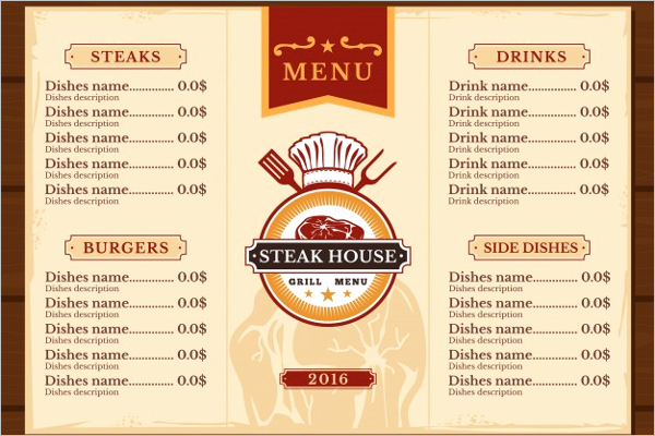 Free Editable Restaurant Menu Templates New 30 Free Menu Templates Free Pdf Word Design Templates