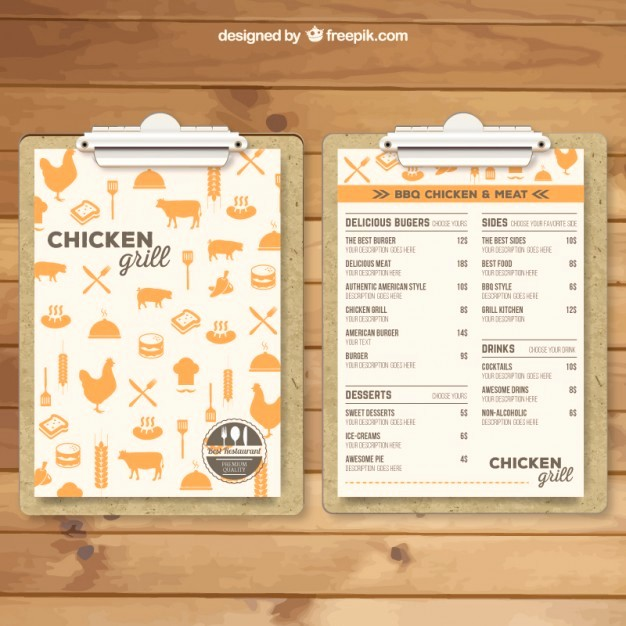 Free Editable Restaurant Menu Templates New Grill Menu Template Vector