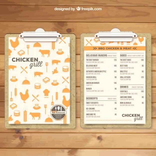 Free Editable Restaurant Menu Templates New Grill Menu Template Vector
