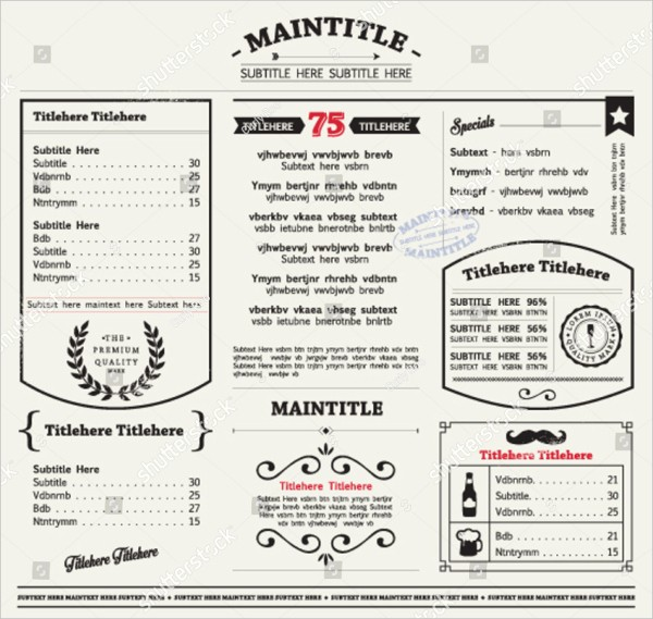 Free Editable Restaurant Menu Templates New Restaurant Menu Template 25 Free & Premium Download