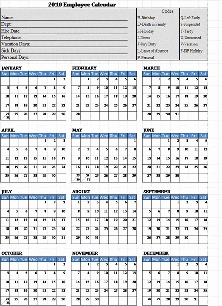 Free Employee attendance Calendar 2016 Awesome 10 Best Of Excel attendance Calendar for 2016