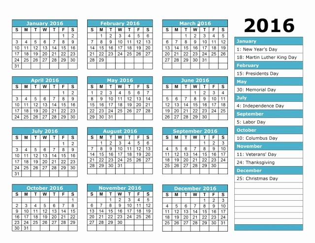Free Employee attendance Calendar 2016 Awesome [free] Printable Calendar Templates 2016