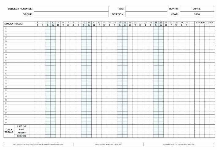 Free Employee attendance Calendar 2016 Beautiful Employee attendance Calendar Template Calendars Printable