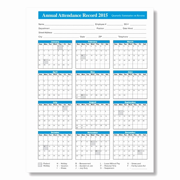 Free Employee attendance Calendar 2016 Beautiful Free Printable 2018 2019 Employee attendance Calendar 2016