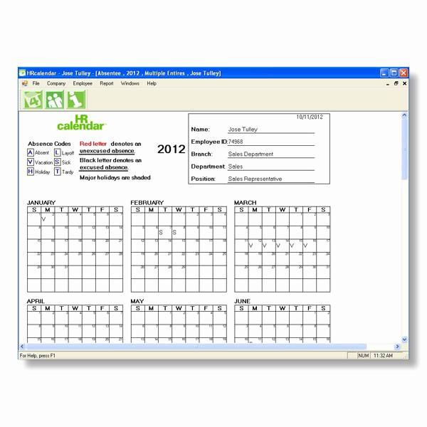 post calendar 2016 attendance tracking