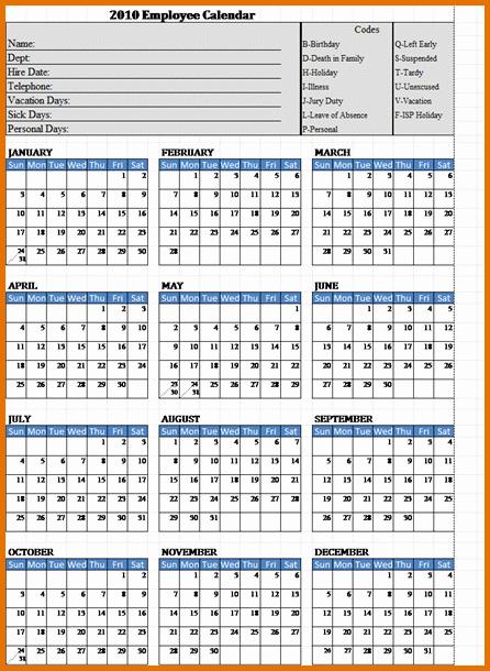 Free Employee attendance Calendar 2016 Fresh 6 Employee attendance Calendar 2016reference Letters