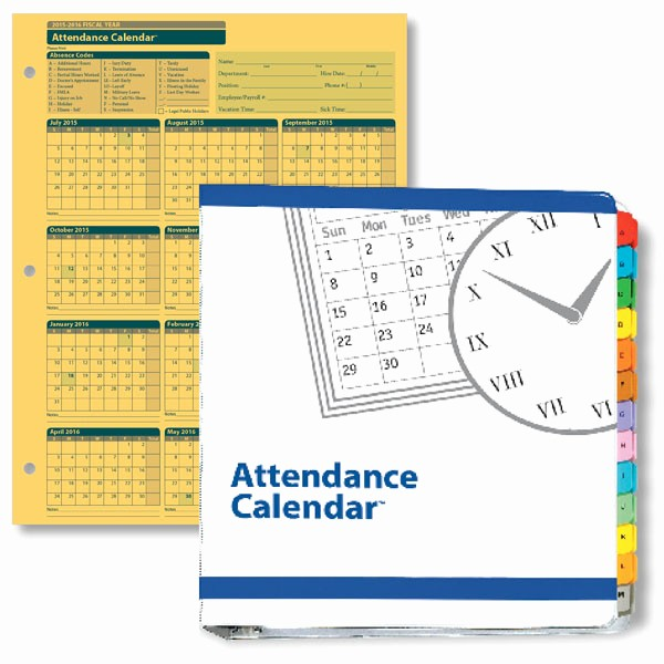 Free Employee attendance Calendar 2016 Unique 2016 Calendar Printable Free 8 X 14