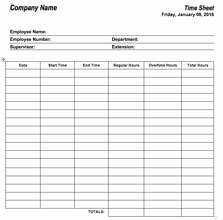 Free Employee Time Tracking Spreadsheet Best Of 6 Free Timesheet Templates for Tracking Employee Hours