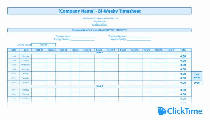 Free Employee Time Tracking Spreadsheet Luxury Free Timesheet Template Printable Timesheets