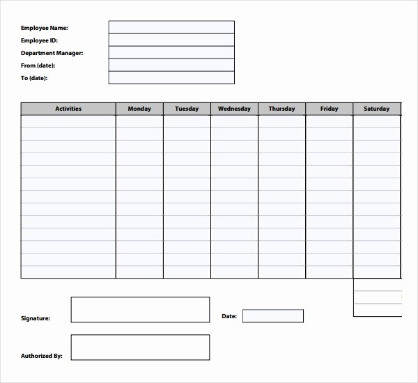 Free Employee Time Tracking Spreadsheet New 12 Time Tracking Templates – Free Sample Example format