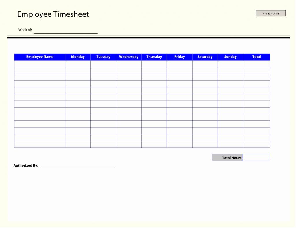 Free Employee Time Tracking Spreadsheet Unique Free Printable Employeeimesheetemplate Weekly within Sheet