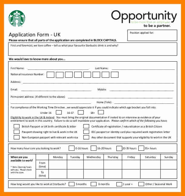 Free Employment Application form Download Fresh 12 Examples Of Job Application forms