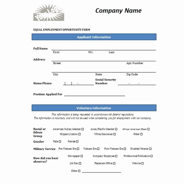 Free Employment Application form Template Beautiful Free Printable Job Application form Template form Generic