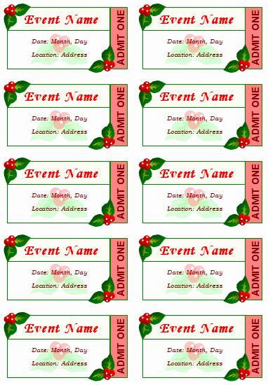 Free event Ticket Template Printable Awesome 12 Free event Ticket Templates for Word Make Your Own