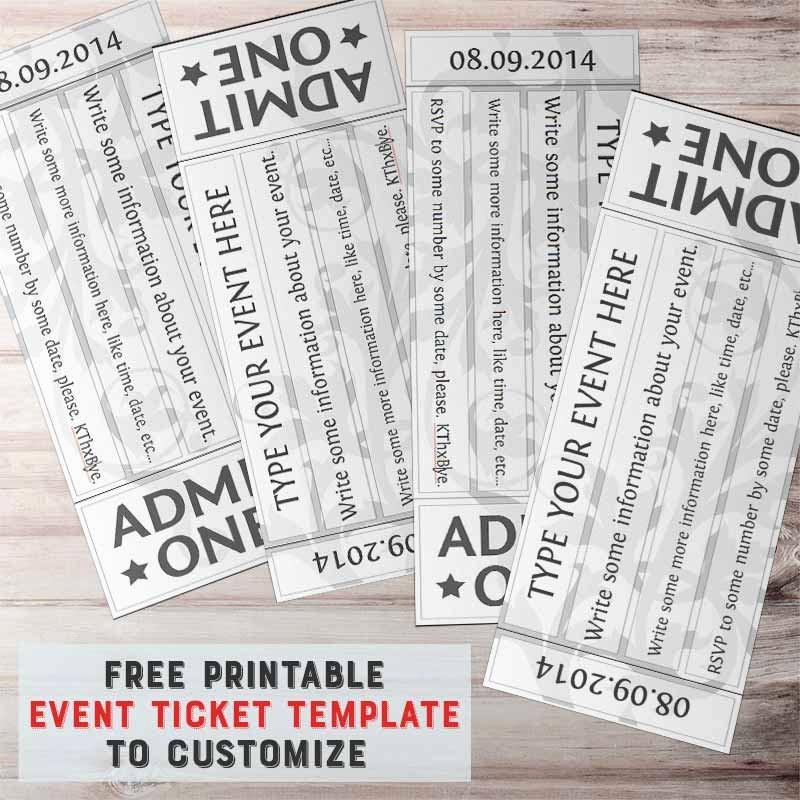 Free event Ticket Template Printable Elegant Free Printable event Ticket Template to Customize