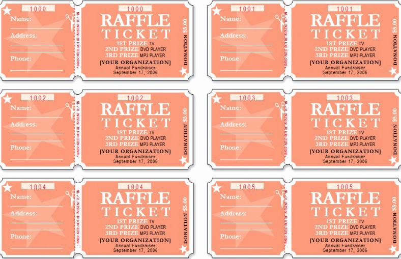 Free event Ticket Template Printable Unique 18 Sample Printable Raffle Ticket Templates Psd Ai