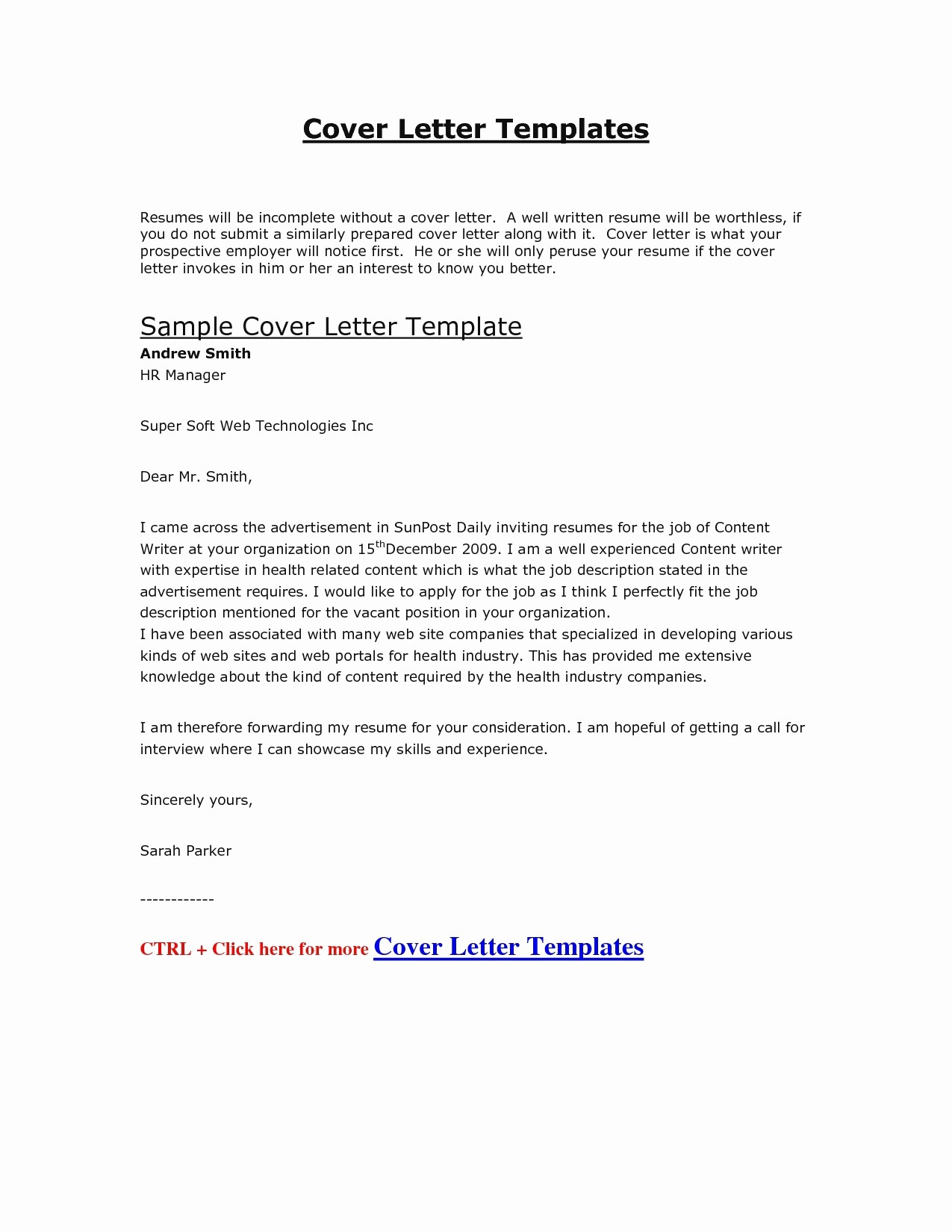 Free Examples Of Cover Letter Awesome Resume Cover Letter Template 2017