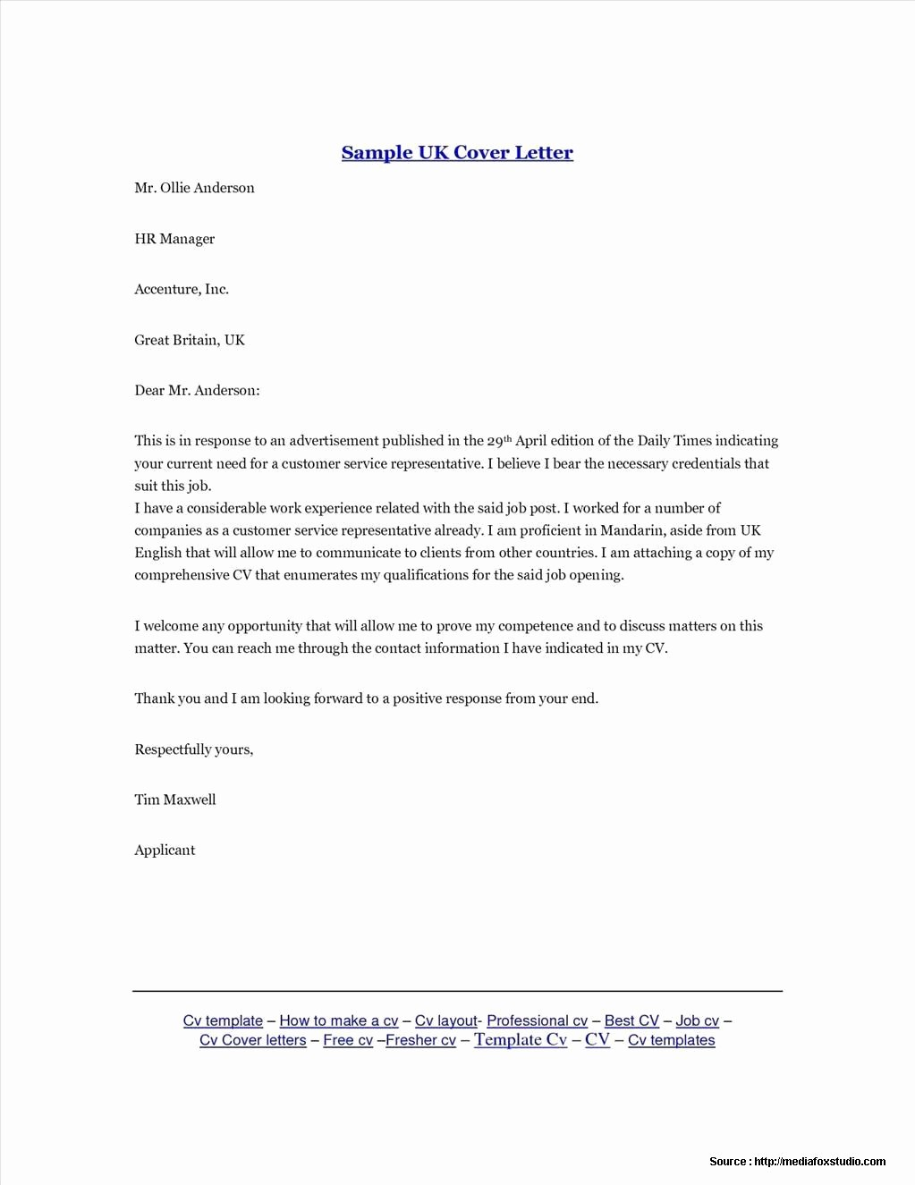 Free Examples Of Cover Letter Unique Cover Letter Templates Free Uk Cover Letter Resume