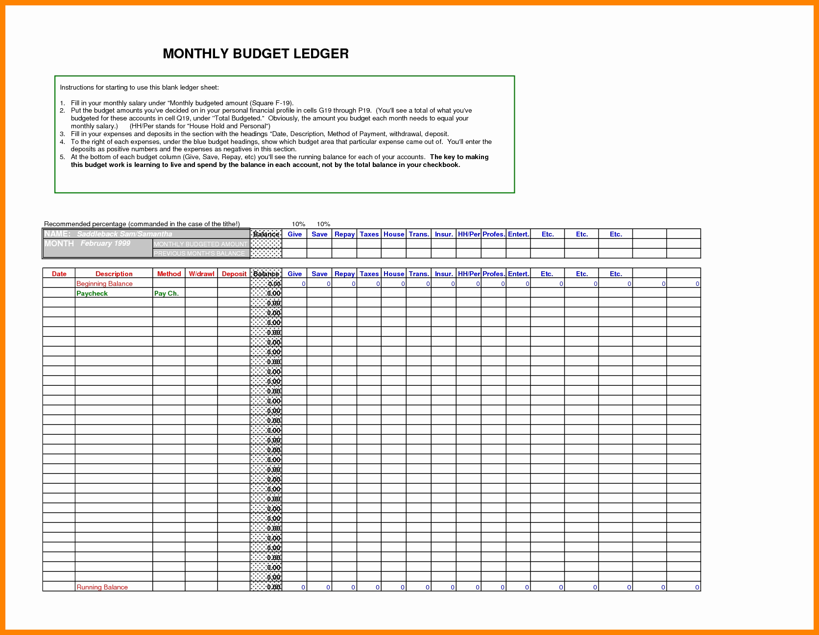 Free Excel Accounting Templates Download Beautiful 5 Free Ledger Template Excel