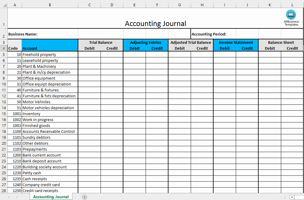 Free Excel Accounting Templates Download Elegant Free Accounting Journal Excel Template