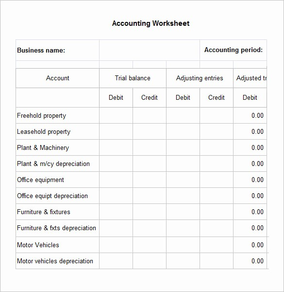 Free Excel Accounting Templates Download Unique 5 Accounting Worksheet Templates – Free Excel Documents