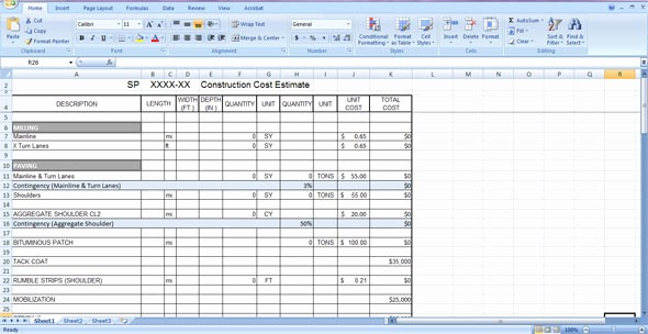Free Excel Cost Estimate Template Awesome Construction Cost Estimate Template Free Download In