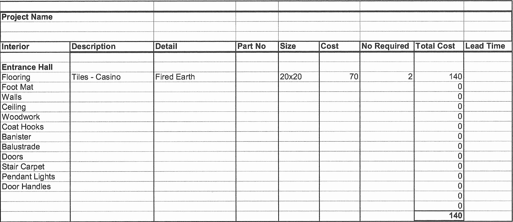 Free Excel Cost Estimate Template Luxury Free Job Cost Worksheet Template Costing Spreadsheet