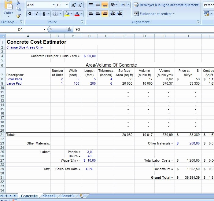 Free Excel Cost Estimate Template New Project Cost Estimate Template Excel 5 Construction