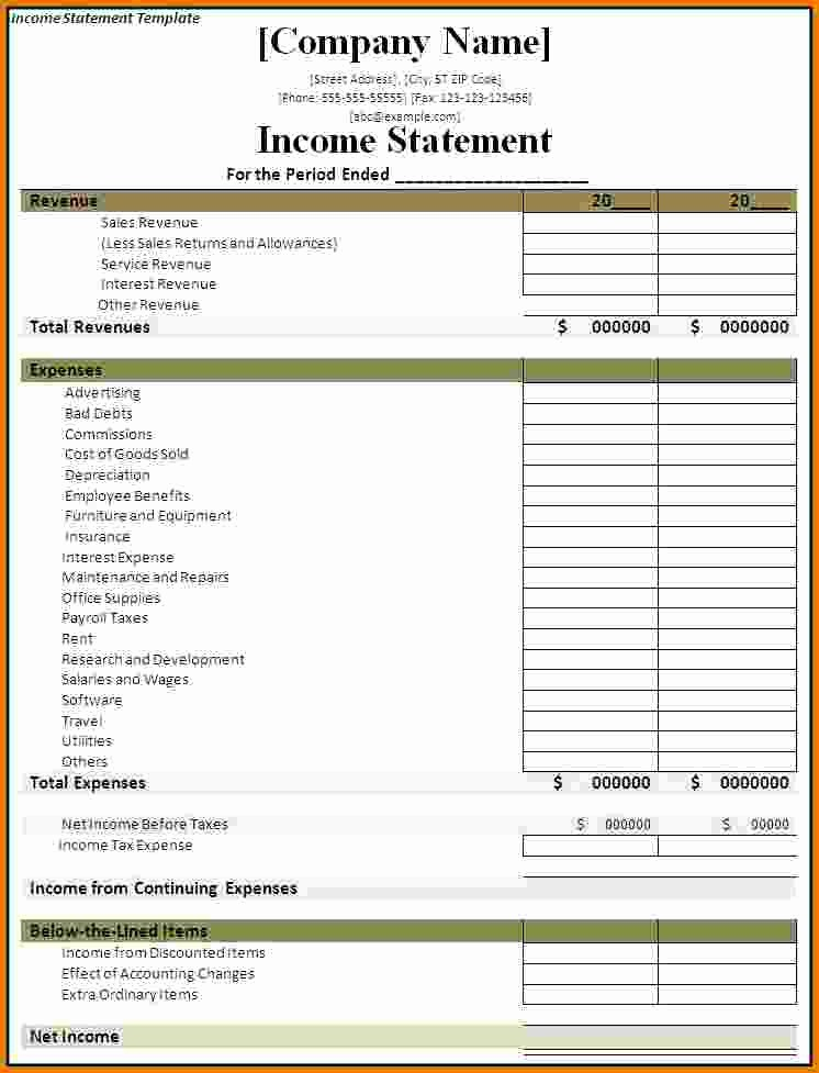 Free Excel Financial Statement Templates Unique 7 Financial Statement Effects Template