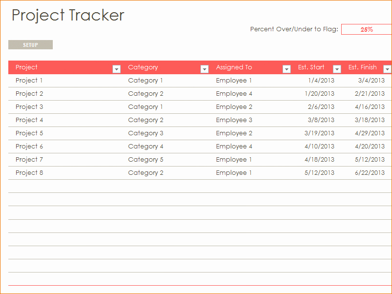 Free Excel Project Tracking Templates Best Of Download Gantt Chart Excel 2016