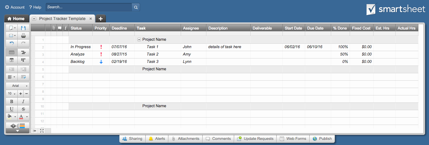Free Excel Project Tracking Templates Luxury Free Excel Project Management Templates