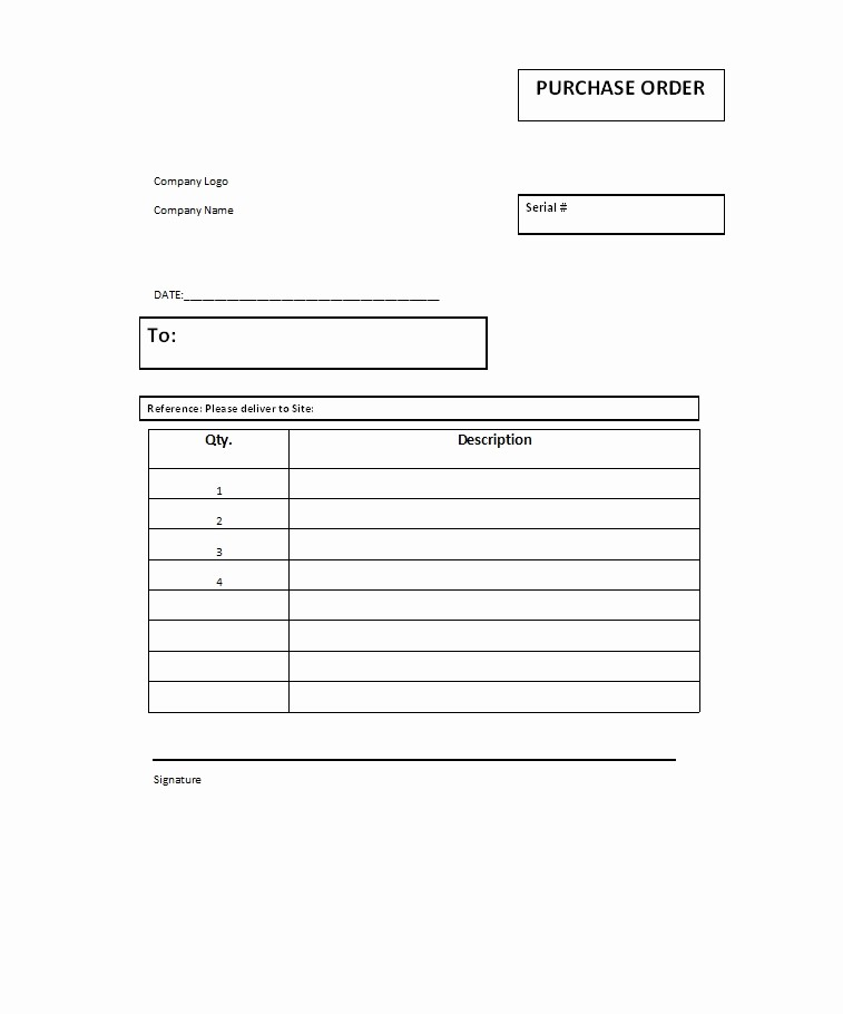 Free Excel Purchase order Templates Fresh 37 Free Purchase order Templates In Word & Excel
