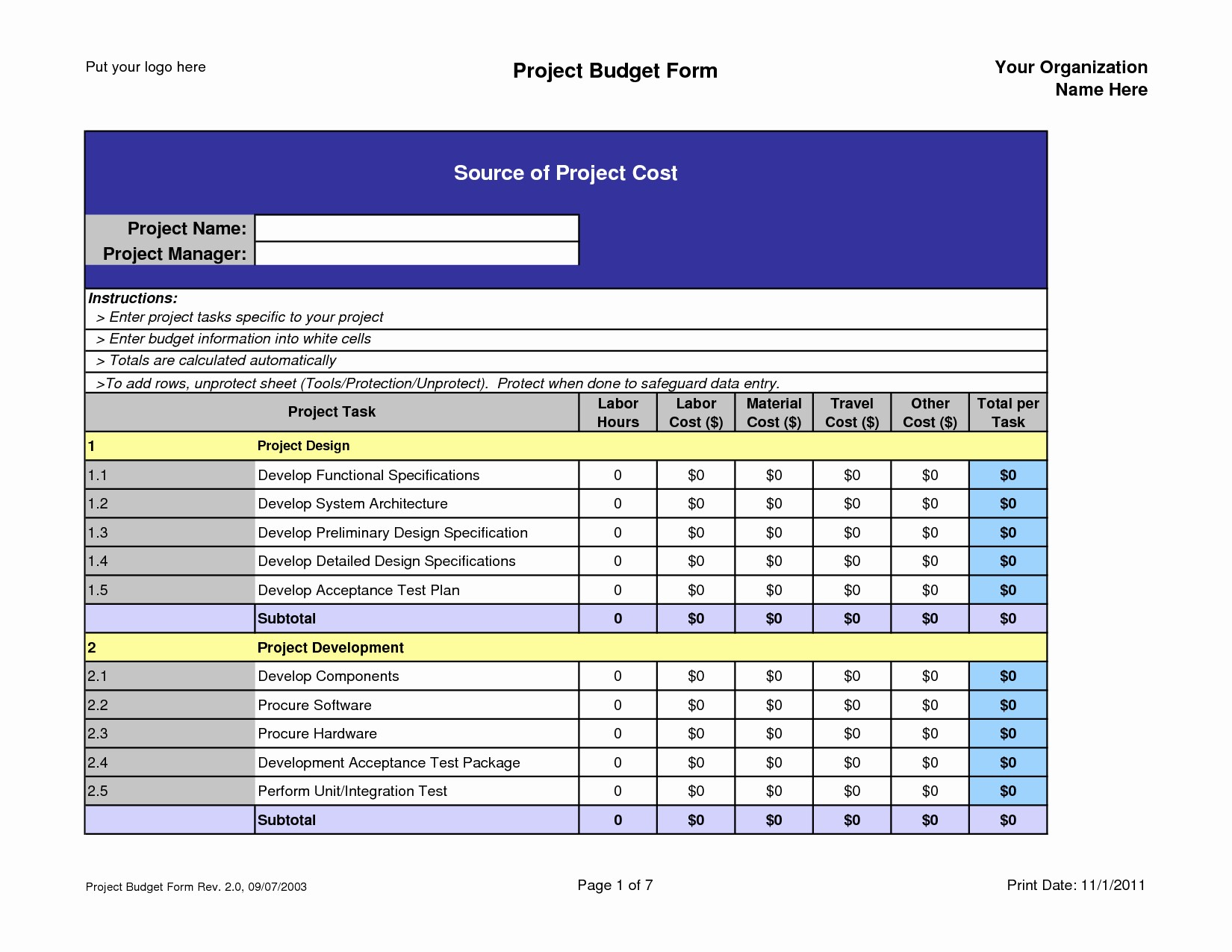 Free Excel Templates Project Management New Project Management Templates for Excel Free Download