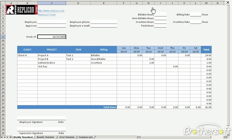 Free Excel Time Sheet Template Inspirational Download Free Free Excel Timesheet Free Excel Timesheet 1