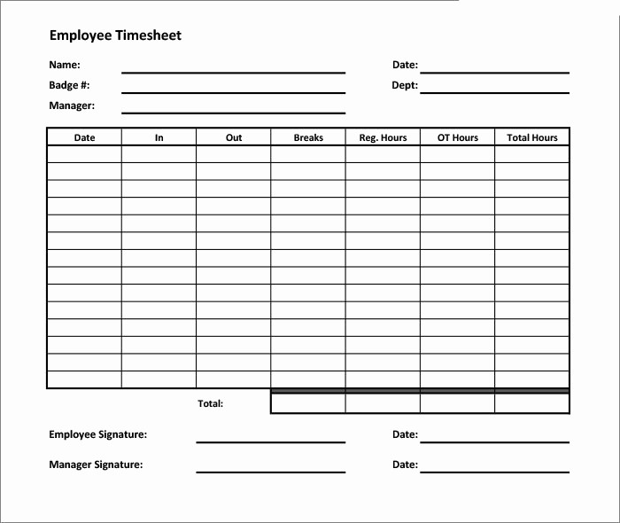 Free Excel Time Sheet Template Luxury 60 Sample Timesheet Templates Pdf Doc Excel