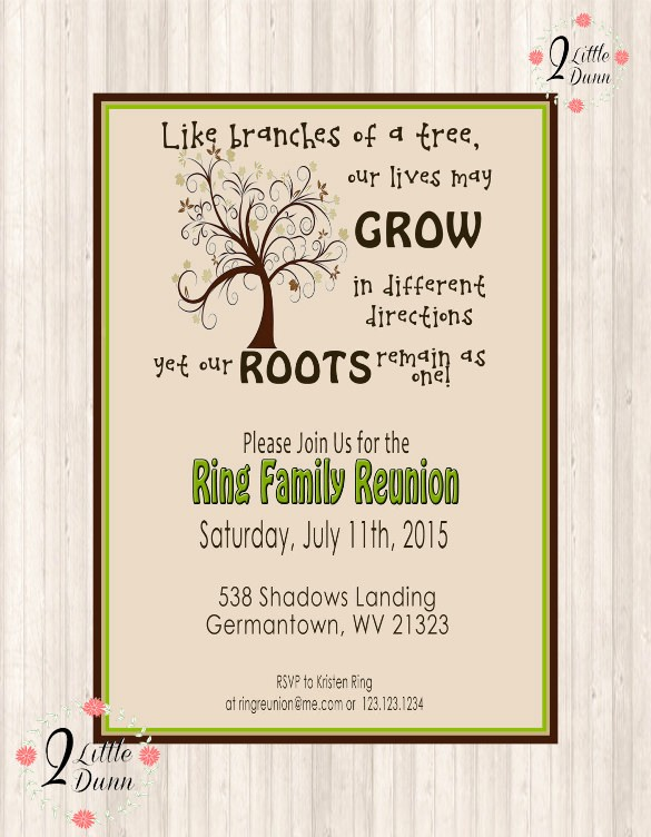 Free Family Reunion Flyer Template Best Of 35 Family Reunion Invitation Templates Psd Vector Eps