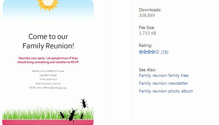 Free Family Reunion Flyer Template Elegant 3 Free Family Reunion Flyer Templates