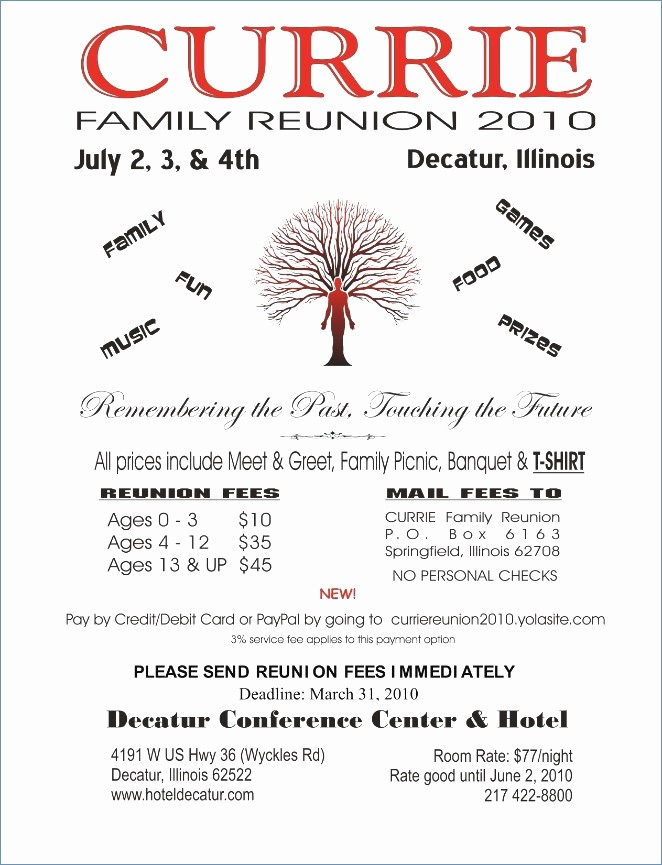 Free Family Reunion Flyer Template Fresh Free Family Reunion Certificates Templates