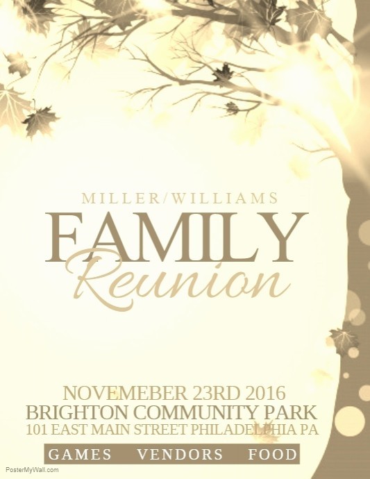 Free Family Reunion Flyer Template Inspirational Family Reunion Template
