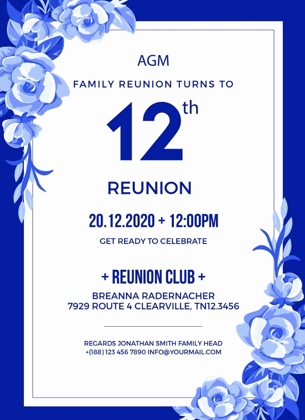 Free Family Reunion Flyer Template Lovely 34 Family Reunion Invitation Template Free Psd Vector