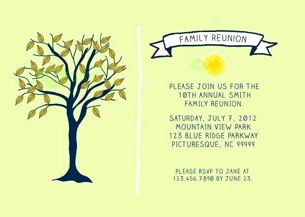 Free Family Reunion Flyer Template Lovely Family Reunion Invitation Letter Template Templates Free