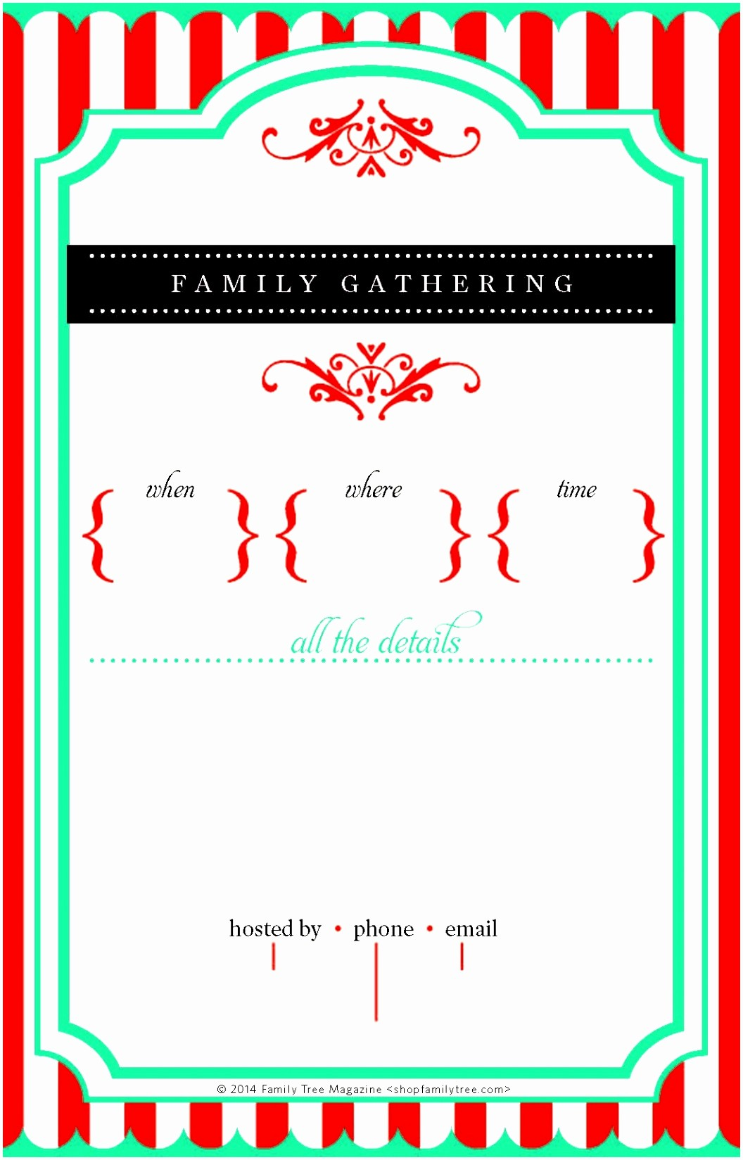 Free Family Reunion Flyer Template Lovely the Gallery for Family Reunion Invitation Templates