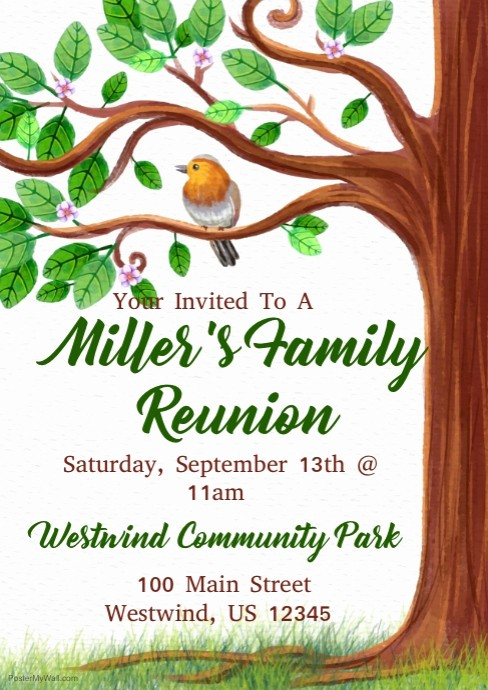 Free Family Reunion Flyer Template Luxury Family Reunion Template
