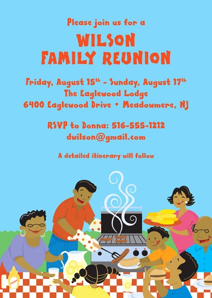 Free Family Reunion Flyer Template New A Family Reunion Party Invitation