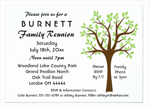Free Family Reunion Flyer Template Unique 19 Family Reunion Invitation Templates Free & Premium