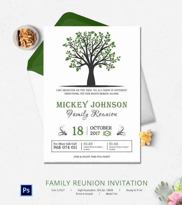 Free Family Reunion Flyer Templates Awesome 32 Family Reunion Invitation Templates Free Psd Vector